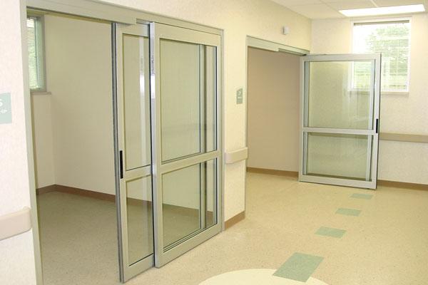 Manual ICU Sliding Doors at a Medical Facility